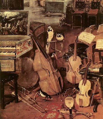 The Sense of Hearing [detail: 1] by Jan the elder Brueghel